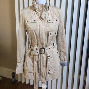 Andrew Marc Beige trench style Rain jacket Sz S